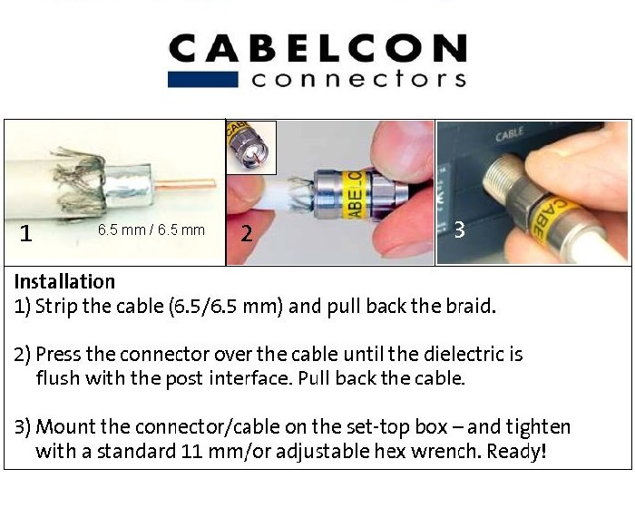 Cablecon self install